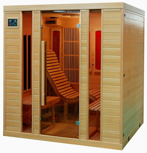 sauna infrarotkabine liegesessel vollspektrumstrahler w rmekabine. Black Bedroom Furniture Sets. Home Design Ideas