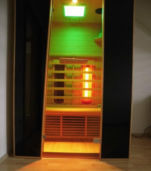 vollspektrumstrahler infrarotkabine mit led farblicht musikanlage mit montageat. Black Bedroom Furniture Sets. Home Design Ideas