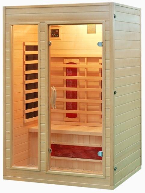 sauna infrarotkabinen karibik hemlock farblicht inkl. Black Bedroom Furniture Sets. Home Design Ideas