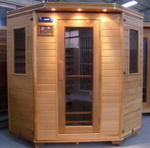 sauna infrarotkabine keramikstrahlercd radio farblicht montage neu ebay. Black Bedroom Furniture Sets. Home Design Ideas