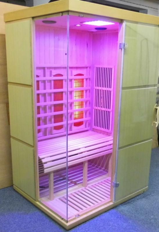 infrarotkabine mit montage w rmekabine infrarot sauna vollspektrum cd led ebay. Black Bedroom Furniture Sets. Home Design Ideas